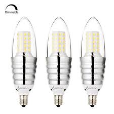 bogao 3 pack dimmable e12 led candelabra bulb 12w daylight led