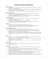 Objective Examples Resume General Example Entry Level Receptionist