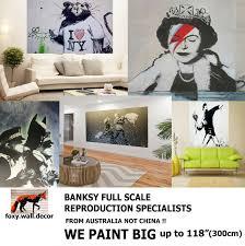 banksy satin print collage montage poster 24 x