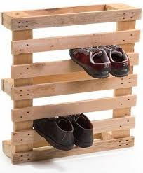 Pallet Wood Shoes Rack