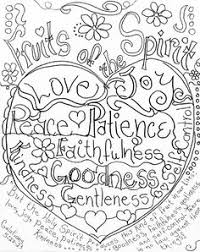 Fruits Of The Spirit Coloring Page By Carolyn Altman Galatians 522 33