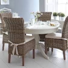 The Burridge Wicker Collection Round Dining Table Set In ...