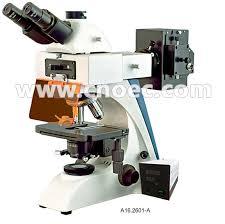 trinocular fluorescence light microscope with mercury bulb a16 2601