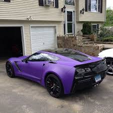 Matte Purple And Black Car