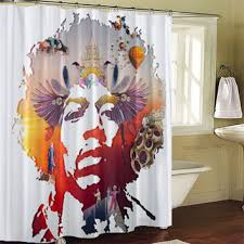 Jimi Hendrix Shower Curtains from LeatriceCurtain on Etsy