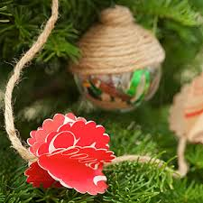 String The Paper Bag Flowers Together With Jute Twine For A Simple And Rustic Look On Your Christmas Tree