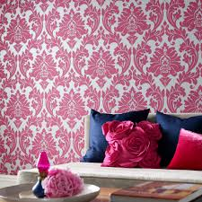 Grey And Purple Living Room Wallpaper by Fun Fancy And Floral Pink Damask Class Wallpapers