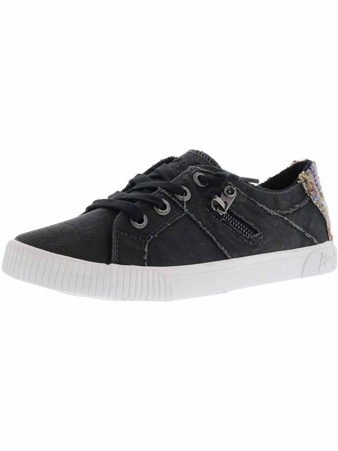 Blowfish Women's Fruit Sneakers - Black Smoked Canvas, Size 8.5