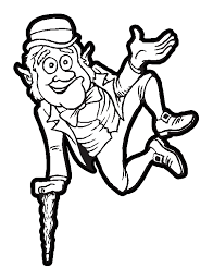 Leprechaun Jumping For Good Luck Of The Irish Coloring Book Printable St Patricks Day