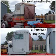 Peterbuilt Sleeper Cab Blasted | Nebraska Dustless Blasting