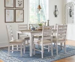 Kinley 7 Piece Casual Dining - White/Light Brown – McKarrs ...