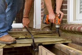 Distance Between Floor Joists On A Deck by The Fun Part Installing Deck Boards Wood It U0027s Real Wood