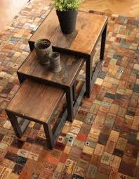 Recycled Leather Belt Flooring 4 Each And Every Is Hand