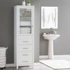 Tall Bathroom Cabinets Freestanding by Bathroom Cabinets Tall Bathroom Linen Cabinet With Two Door And