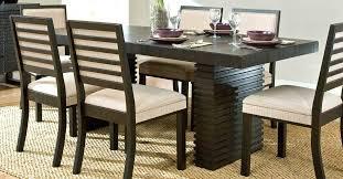 dark espresso dining room set modern table furniture color peces