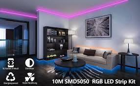 hengda led lichtband 10m 2x5m und 600leds led streifen rgb smd 5050 leds led leiste lichterkette mit 24tasten ir fernbedienung und netzteil