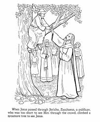 Jesus Calling To Zacchaeus In The Tree Coloring Page
