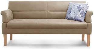cavadore 3 sitzer sofa mit federkern sitzbank für küche esszimmer inkl armteilfunktion 189 x 94 x 81 kunstleder beige