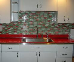 Fresh Appealing Kitchen With Red Laminate Countertops