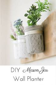 This DIY Rustic Farmhouse Mason Jar Planter Was So Simple And Inexpensive To Whip Up