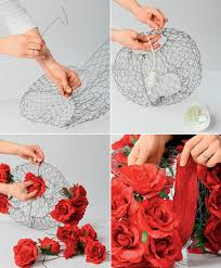 DIY Lampshade Project Tutorial Steps Making Wire Frame Decoration Roses
