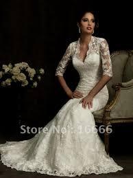 custom made long sleeve wedding dress online 2017 lace court train