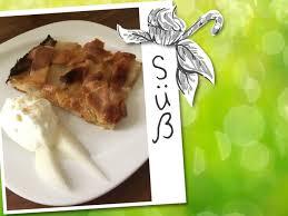apfel birnen kuchen vom blech mit mandeln