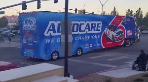 NASCAR Truck Hauler Parade Las Vegas 2015 - YouTube Kyle Busch Starts Las Vegas Weekend With 50th Truck Series Win Wins His Nascar Camping World Race At Michel Disdier Viva Westgate Resorts Named Title Sponsor Of September Ben Rhodes Claims First Win In Thrilling At Ncwts Erik Jones Scores Jackpot Motor Speedway Norc 2015 Iracing 175k 1997 Craftsmen Programs 117 Carquest Wins Hometown Race The