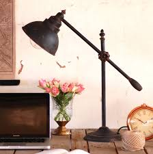 industrial steel desk table lamp by made with love designs ltd