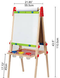 Kidkraft Easel Desk Uk amazon com hape all in one wooden kid u0027s art easel with paper roll