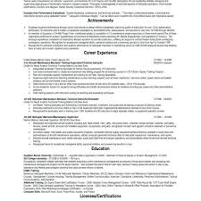 Air Force Military Resume Example Offic Medium Size