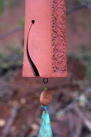 Ceramic Wind Chimes Pottery Hand Made Porcelain Garden Bell Copper Chime Bird Sculpture Art IN STOCK