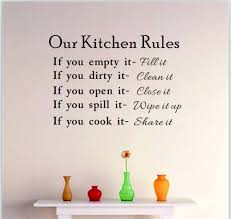 Aliexpress Buy DIY Kitchen Rules Wall Quote Sticker Art Vinyl Decal Home Decor Stickers Words From Reliable Suppliers On Happyeveryday