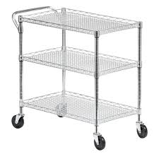 Sterilite 2 Shelf Utility Cabinet by Utility Carts Garage Storage The Home Depot