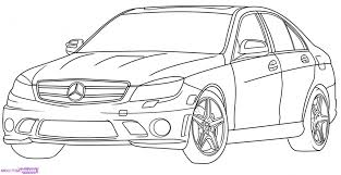 Easy Drawing A Car How To Draw A Mercedes Benz Step Step Cars Draw Cars