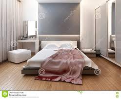schlafzimmer im orientalischen artlicht mit den roten und