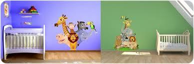 décoration jungle chambre bébé ordinaire dessin chambre bebe garcon 6 stickers animaux jungle et