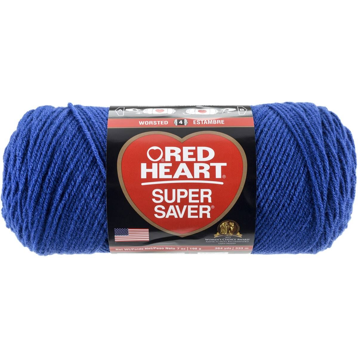 Red Heart Super Saver Yarn - #0385 Royal, 364yd
