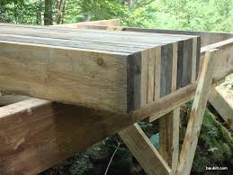 Floor Joist Span Table Deck by Using Rough Sawn Lumber