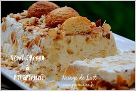 recettes de cuisine italienne semifreddo à l italienne aux amaretti nuage de lait