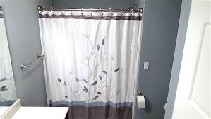 No Drill Curtain Rods Home Depot by Bathroom Curved Shower Rod For Comfortable Experience In The Bath