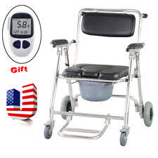 handicap toilet chair with wheels toilet bedside commodes ebay