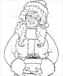 Mrs Santa Claus Holding A Present Coloring Page Download
