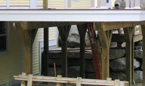 Free Standing Deck Bracing by Help Pressure Treated 4x4 Deck Posts Splitting Carpentry Diy