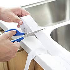 2 stück wasserdichtes klebeband pvc selbstklebende dichtband und verhindert schimmel für küche bad badewanne dusche boden wand kantenschutz