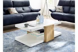 table basse laquée blanche bois verre trendymobilier
