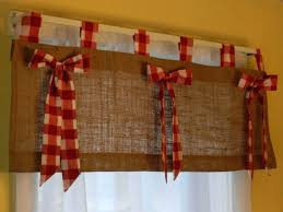 Amazon Red Kitchen Curtains by Amazon Curtains Living Room Burlap Tab Valance With Red And White