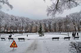 100 Karlaplan Editorial 12172018 Stockholm Sweden On A Snowy