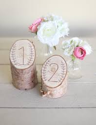 Rustic Birch Table Numbers Laurel Wreath Barn Country Wedding Decor NEW 2014 Design By Morgann Hill