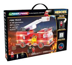 100 First Fire Truck Amazoncom Laser Pegs LightUp Building Block Playset